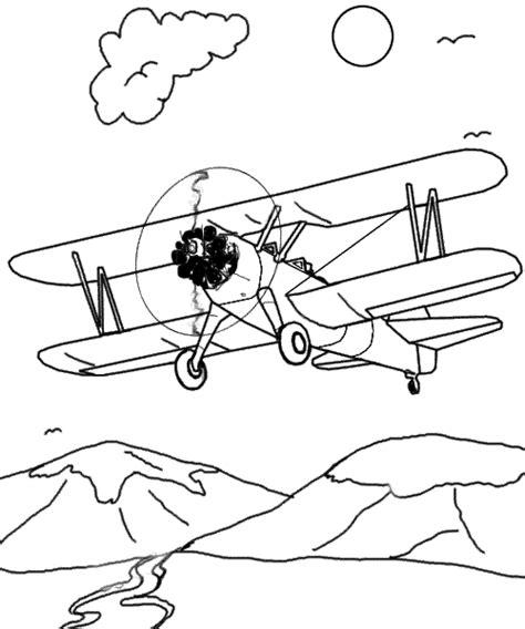 printable airplane coloring sheet  kids boys drawing