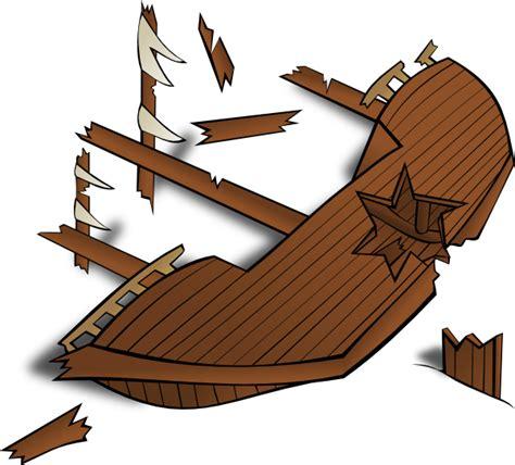 animated wrecked shipwreck clip art free vector 4vector