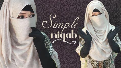 simple niqab tutorial  hijab style niqabee youtube