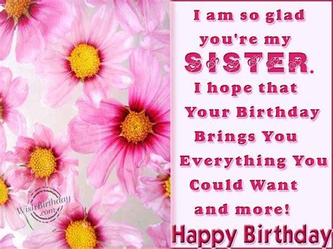 wonderful sister birthday wishes  show  love