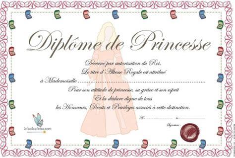 diplome de cuisine a imprimer diplôme de princesse à imprimer