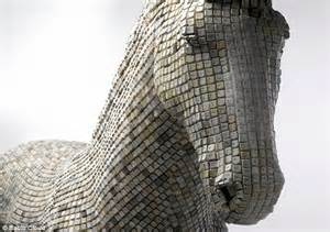 Artist Creates Horse Sculpture Made Out