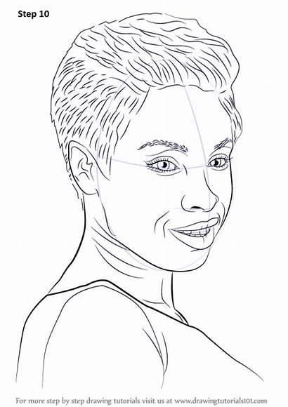 Hudson Draw Step Jennifer Celebrities Coloring Drawing