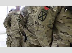 Soldiers Receive Combat Patch In Afghanistan YouTube