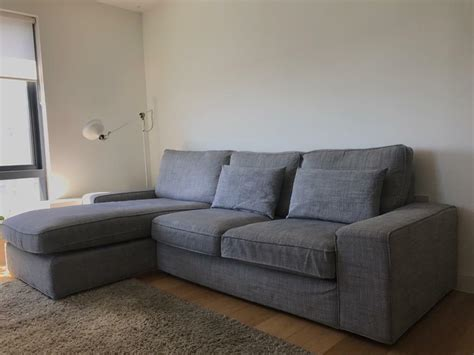 Ikea Kivik Two Seater Sofa With Chaise Longue.