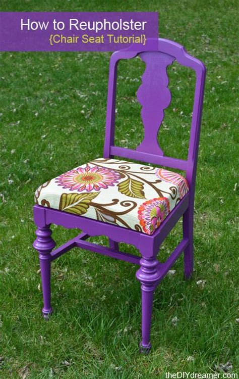 how to reupholster a chair seat the d i y dreamer