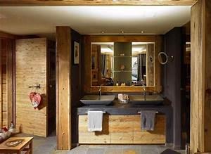Ambiance Salle De Bain : salle de bain moderne dans une ambiance chalet salle de ~ Melissatoandfro.com Idées de Décoration