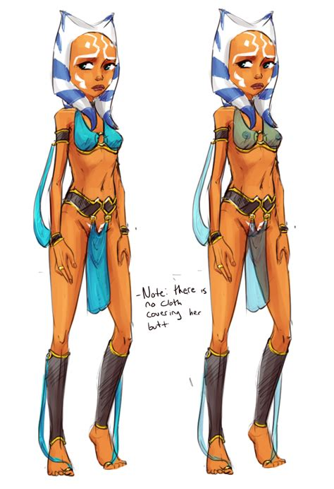 Rule 34 1girls Ahsoka Tano Armband Ass Bikini Bra