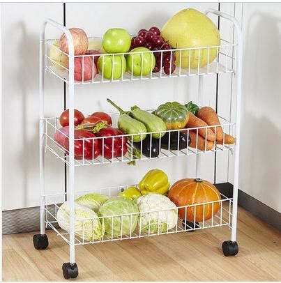 Household fruits & vegetables shelf storage rack with