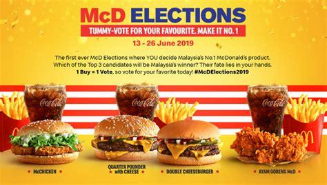 mcdonalds  runs elections campaign    menu