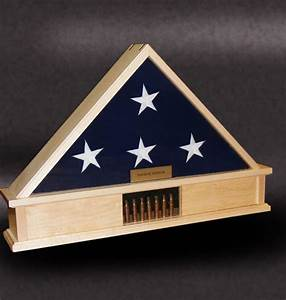 """5x9 """"Lite Display Base"""" Flag Cases by Greg seitz Woodworking"""