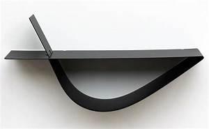 Etagere Murale Moderne : etag re murale noire 45cm tag re murale design moderne pas cher ~ Teatrodelosmanantiales.com Idées de Décoration