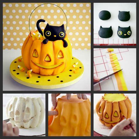 halloween pumpkin cake tutorial  cake girls  cake