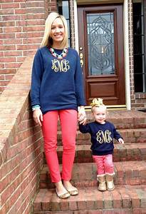 Love these matching monogram sweatshirts -- mom u0026 daughter!! | Little Girl Smith | Pinterest ...