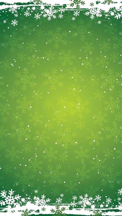 snowflakes  green background winter iphone  wallpaper