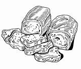 Bread Coloring Pages Delicious Sheet sketch template