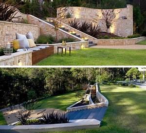 Terrasse Gestalten Modern : terrasse am hang praktisch und modern gestalten 10 tolle ideen hinterhof neu gestalten ~ Watch28wear.com Haus und Dekorationen