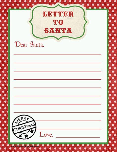 letter  santa  printable