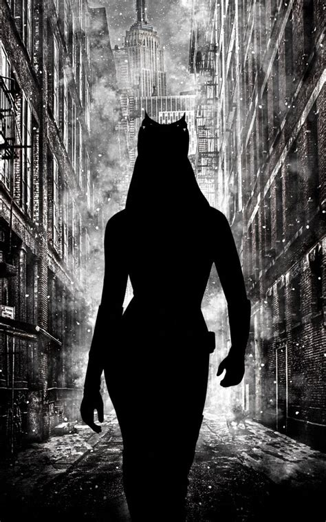 catwoman silhouette gotham android wallpaper