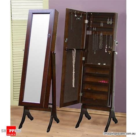 full length mirror jewellery cabinet wooden mirrored jewellery full length storage cabinet