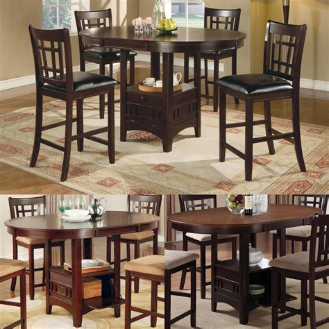 When considering which outdoor bistro table to buy, it's important to from accent tables to bistro sets, you can find everything you need to elevate your outdoor space at every day low prices. Cappuccino Dark Cherry Storage Counter Height Leaf Pub Table Dining Kitchen Set | eBay