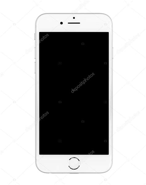 IPhone 6 on white background turned off. – Stock Editorial