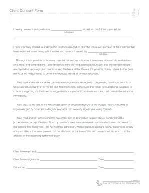 esthetician forms downloadable esthetician consent forms fill online