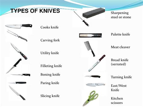 different types of kitchen knives knife skills