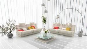 Deco Pour Salon : d co salon blanc pour un int rieur lumineux et moderne ~ Premium-room.com Idées de Décoration
