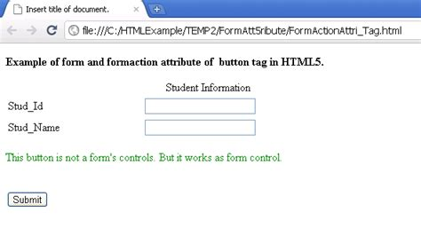 html5 button tutorial exle of form and formaction