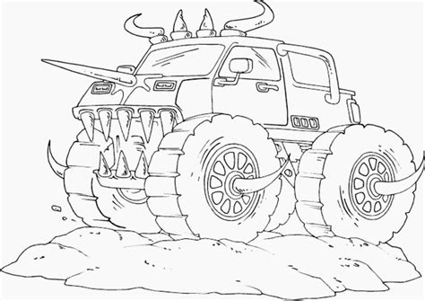 Bulldozer Monster Truck Coloring Pages Coloring Pages