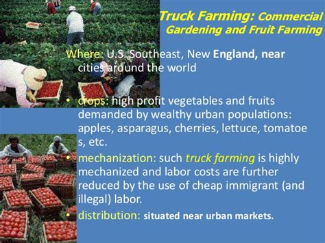 farming truck agricultural commercial gardening fruit modern practices where