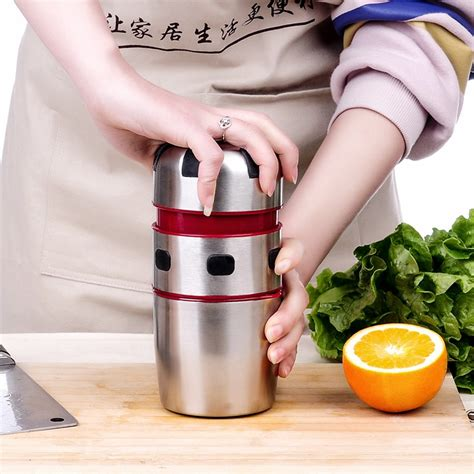 juicer mini fruit squeezer manual travel juice stainless machine steel hand press bottle extractor household cup china woopshop