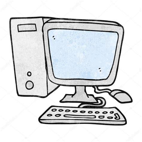 Ordinateur De Bureau De Dessin Animé Texturé — Image