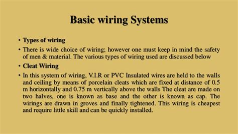 electrical systems in a building