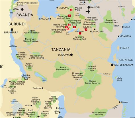 map  tanzania  surrounding countries pictures  pin