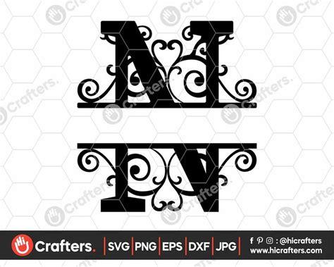 split monogram  svg split letter  svg  crafters monogram svg monogram letters svg