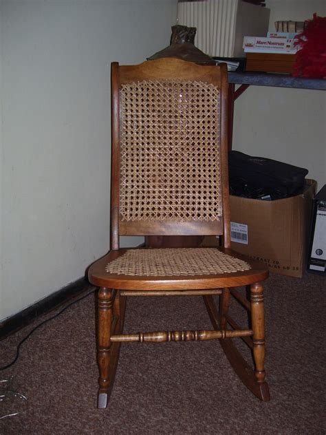 Recaning A Chair Back by Lincoln Child Rocker My Antique Furniture Collection