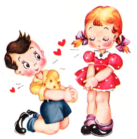 Image result for little girl valentine clip art