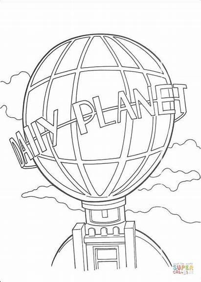 Planet Daily Coloring Pages Building Globe Superman