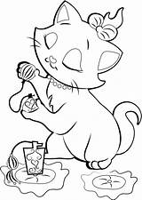 Coloring Cat Pages Cartoon Disney Popular sketch template