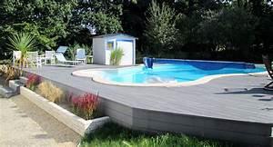 Amenagement Autour Piscine Hors Sol : terrasse bois autour piscine hors sol nouveau installation piscine hors sol bois 4 avec piscine ~ Nature-et-papiers.com Idées de Décoration