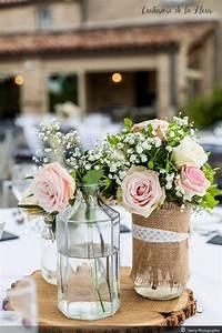 Centre De Table Champetre : fleur champetre mariage bouquet fleur blanche mariage ~ Melissatoandfro.com Idées de Décoration