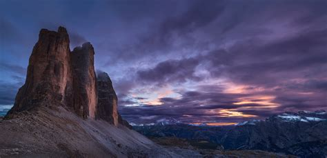Panorama Tre Cime Di Lavaredo Dolomites Italy By