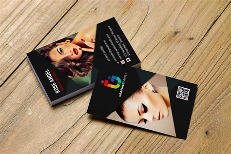beauty  fashion vertical business card design