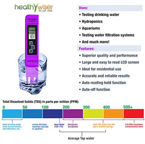 tds meter professional grade water test kit insteading