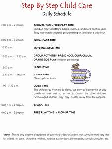 child care schedule template hunecompanycom With child care daily routine template