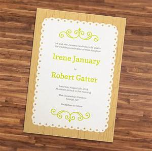 wedding invitation template doily stationery templates With wedding invitation size illustrator