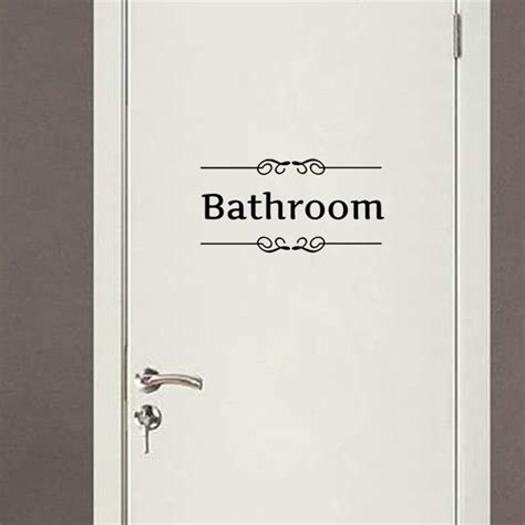 Interesting 30+ Bathroom Sign Decal Decorating Inspiration