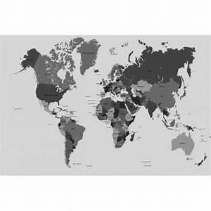 Carte Du Monde Noir : carte du monde noir et blanc achat vente pas cher ~ Teatrodelosmanantiales.com Idées de Décoration